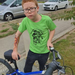 NEW XTREME SPORTS RANGE 'Mountain Biker' Eco-Friendly And Fair Trade T-Shirt